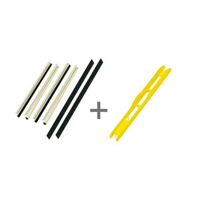 KIT REGLETTE CASIER 30 MM + 32 PLIOIRS JAUNES 19 X 1.6 CM<BR>(Ref. 626032)