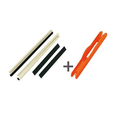 KIT REGLETTE CASIER 30 MM + 60 PLIOIRS ORANGE 13 X 1.3 CM<BR>(Ref. 626020)