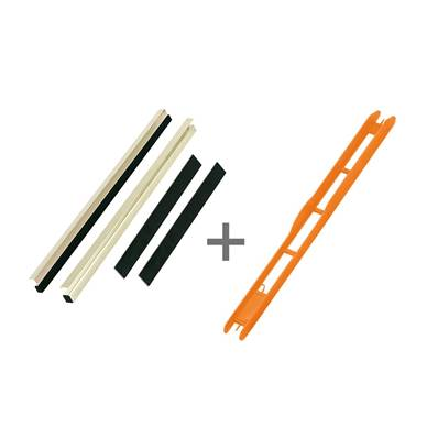 KIT REGLETTE CASIER 30 MM + 22 PLIOIRS ORANGE 26 X 1.8 CM<BR>(Ref. 626038)